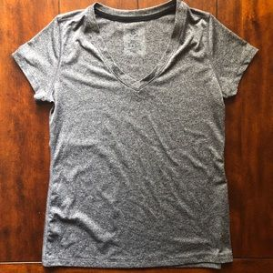 Champion Grey fleck v-neck workout tee